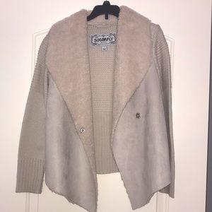 A faux fur taupe jacket